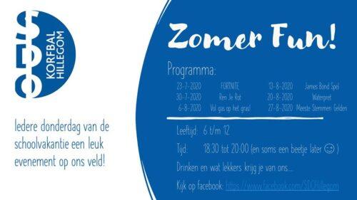 Zomer Fun van SDO Korfbal @ SDO Korfbal Hillegom | Hillegom | Zuid-Holland | Nederland