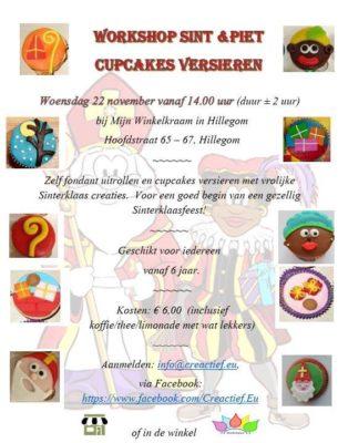Workshop Sint en Piet cupcakes @ Mijn Winkelkraam   Hillegom   Zuid-Holland   Nederland