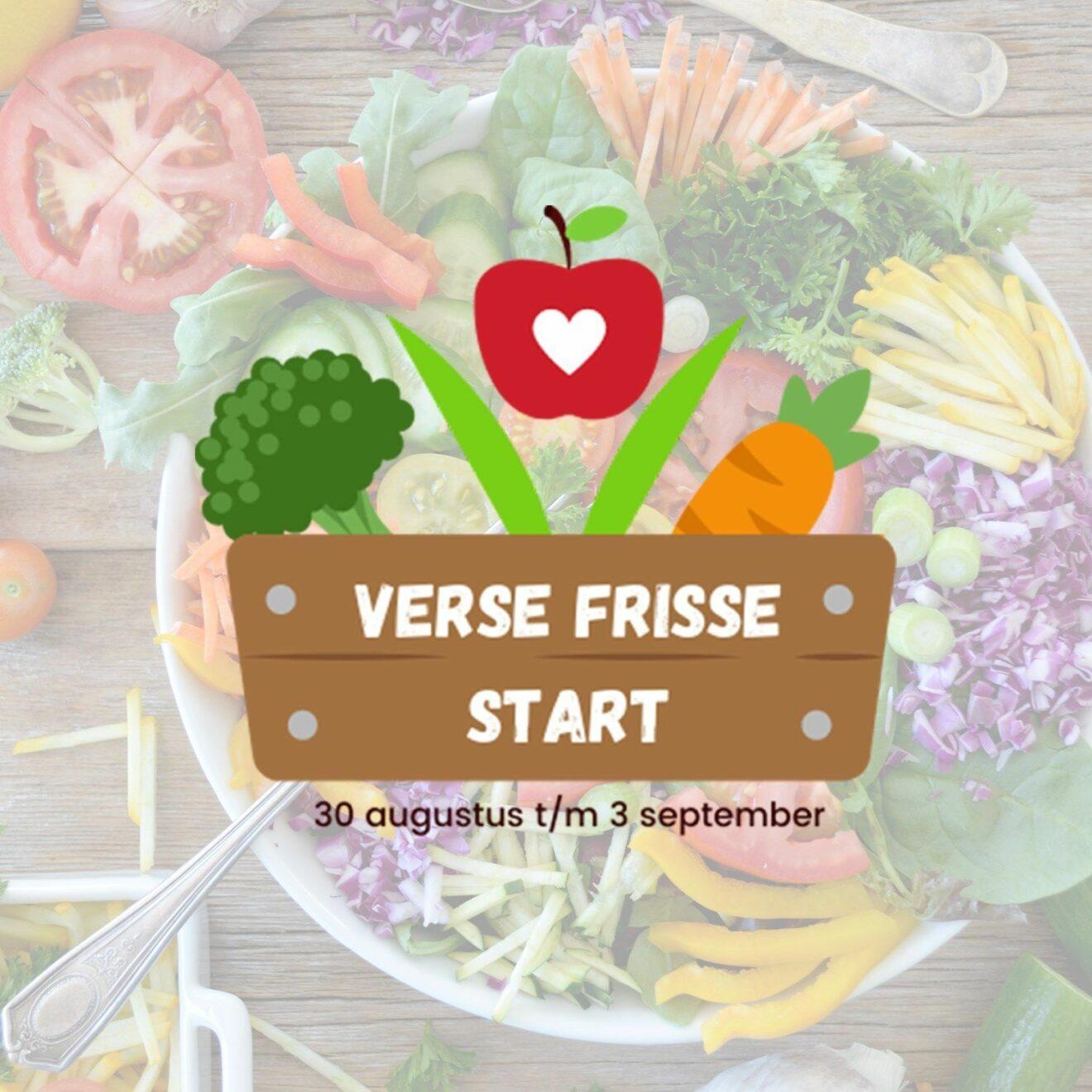 Verse frisse start met groente en fruit