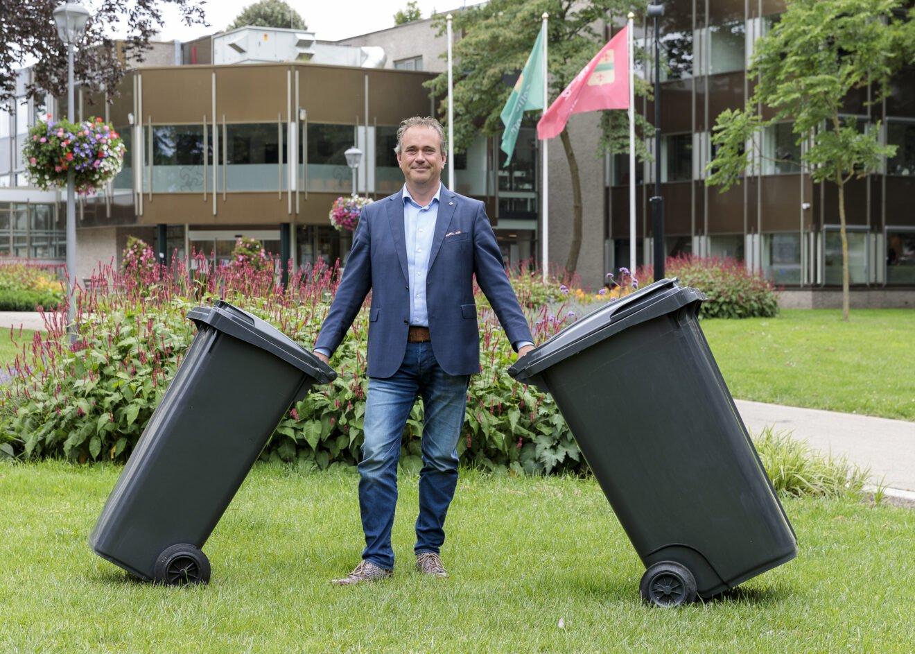 Rolcontainers met chip voor nieuw afvalbeleid