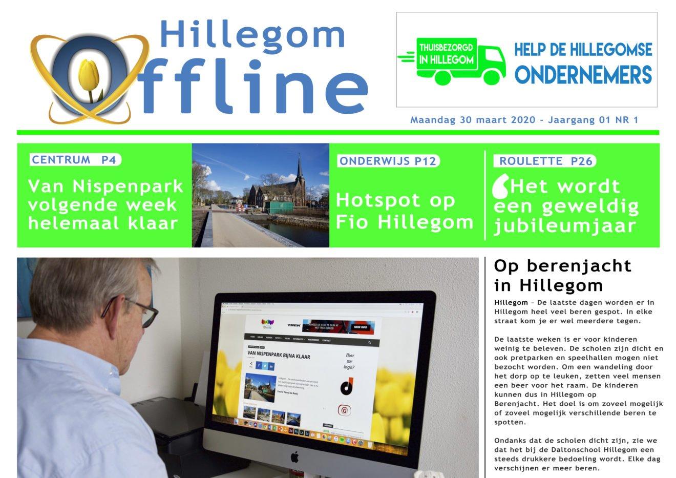 1 april: Hillegom Online gaat krant uitbrengen