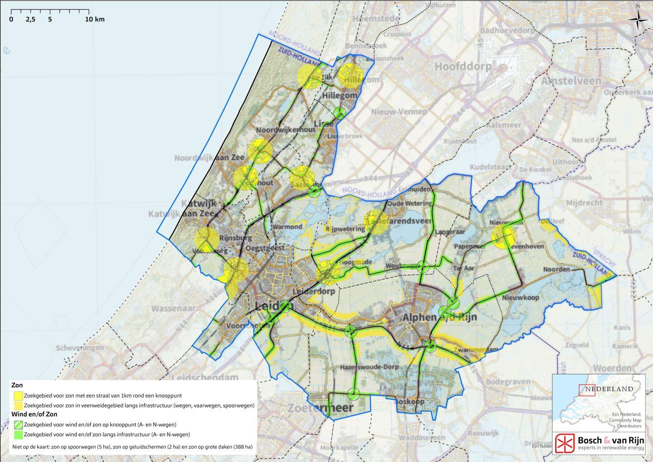 Holland Rijnland presenteert Kaart voor wind- en zonne-energie