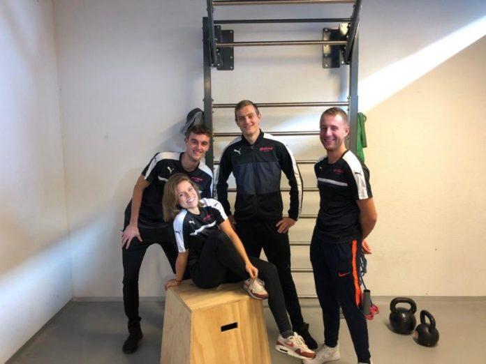 Max, Emma, Luuk en Mike van Inholland-FitTest 60+