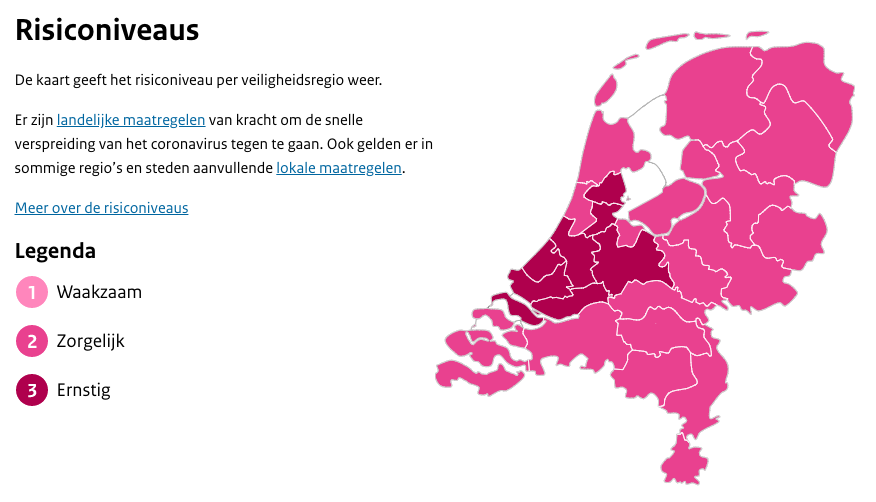 Hollands Midden naar hoogste risiconiveau door toename aantal positief geteste inwoners