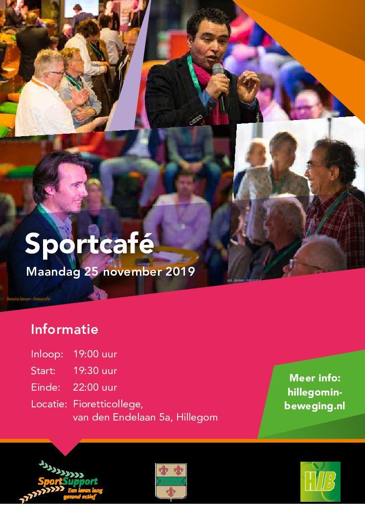 Op maandag 25 november 2019 is het tweede Sportcafé