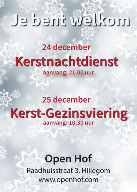 kerstsamenkomsten bij Open Hof