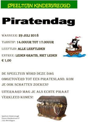 Piratendag @ Speeltuin Kindervreugd | Hillegom | Zuid-Holland | Nederland